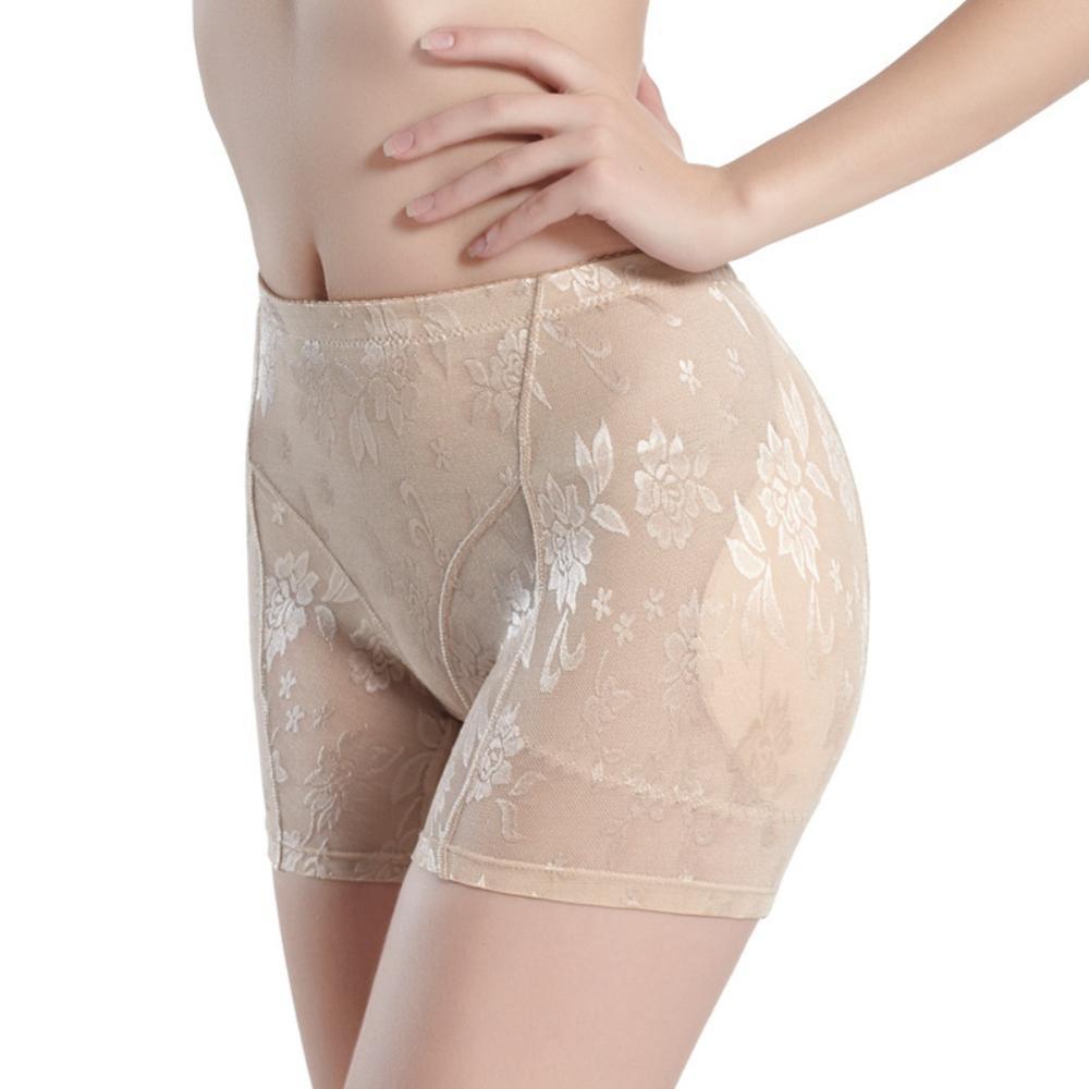 Pantalones de adelgazamiento para mujer sin costuras a media cintura moldeador de Control de barriga falso culo elevador de trasero bragas de cadera hasta acolchado levantador de trasero Push A Panty 9
