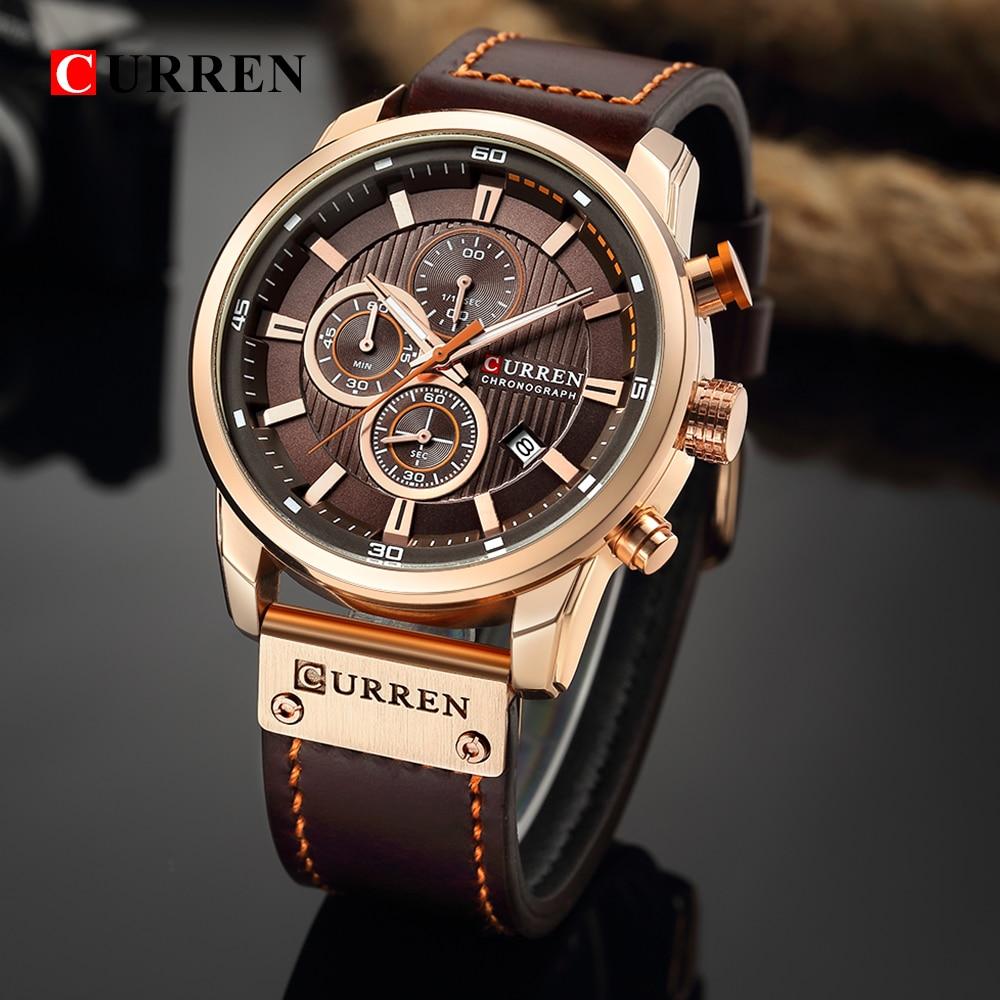 CURREN Fashion Date Quartz Men Watches Top Brand Luxury Male Clock Chronograph Sport Mens Wrist Watc