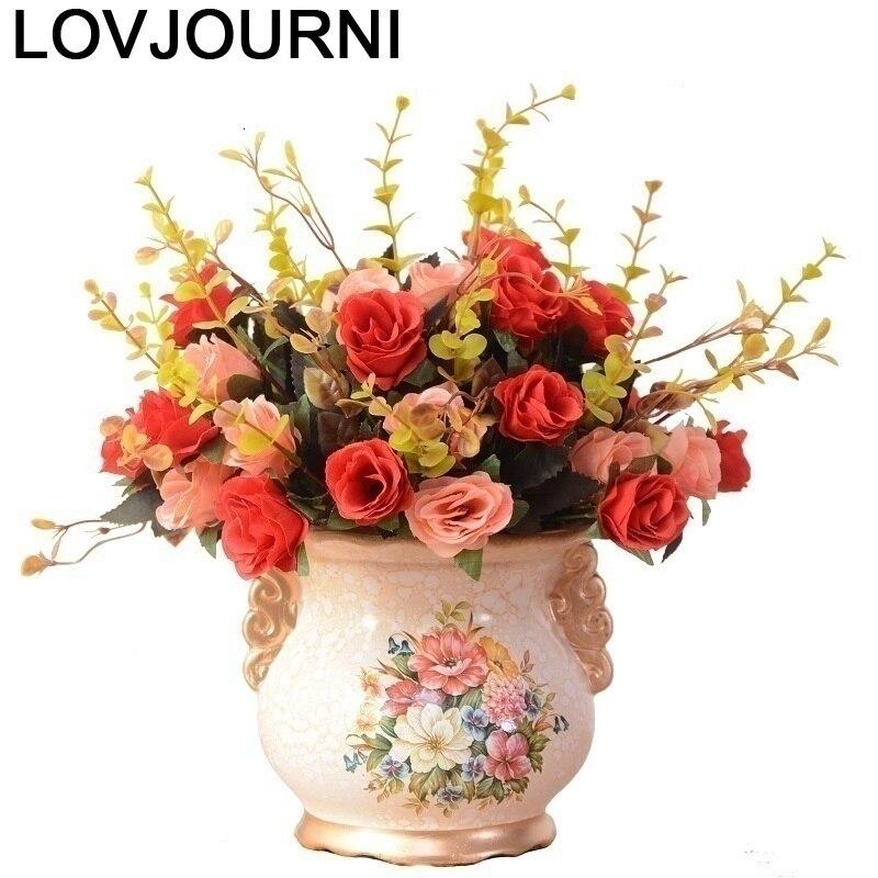 Wazon na kwiaty ceramica vazo cam fanus jarron decoración teraryum vaso de flor accesorios decoración moderna casa flor florero
