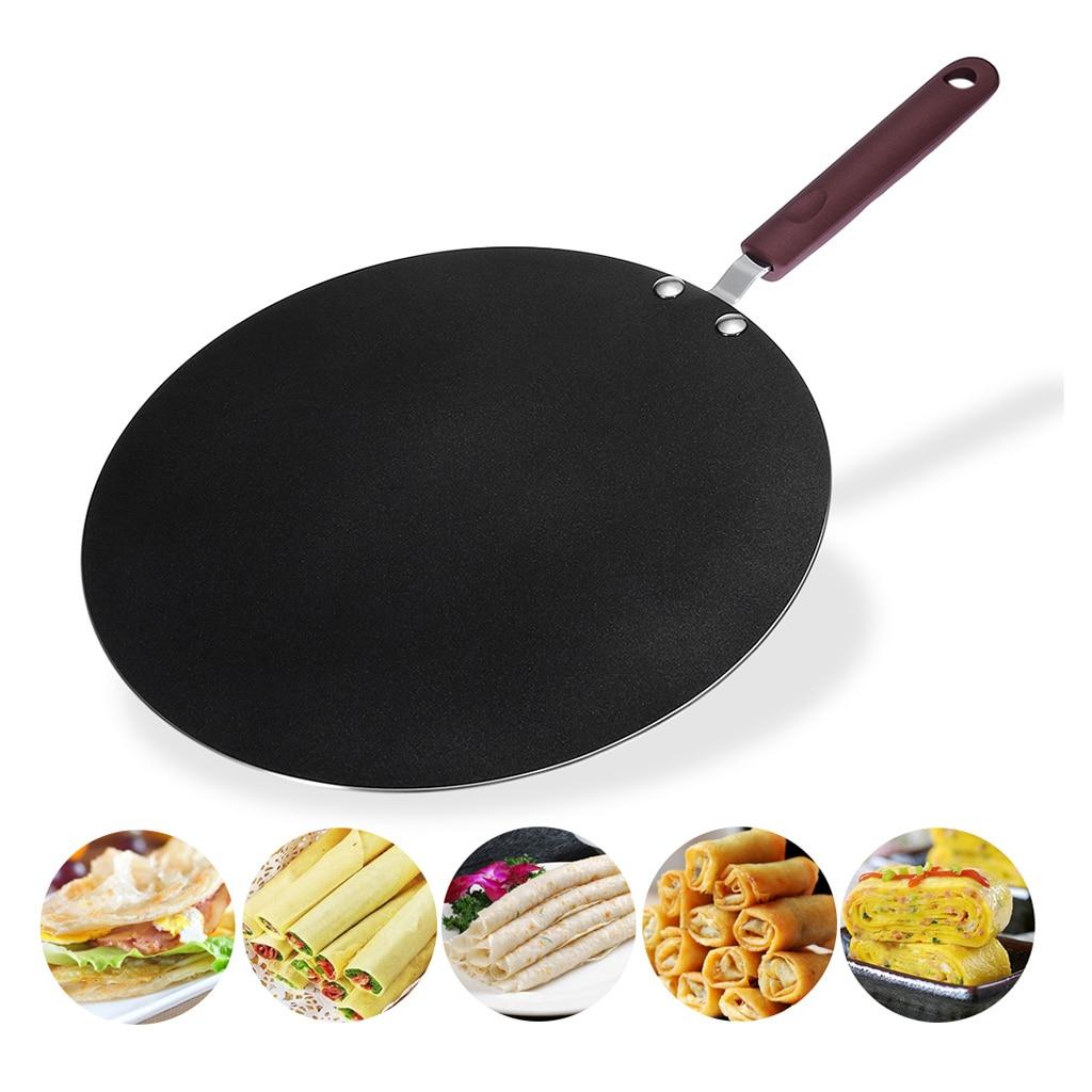 30cm Nonstick Frying Indian Tava Dosa Chapati Pan Flat Skillet Griddle Pan