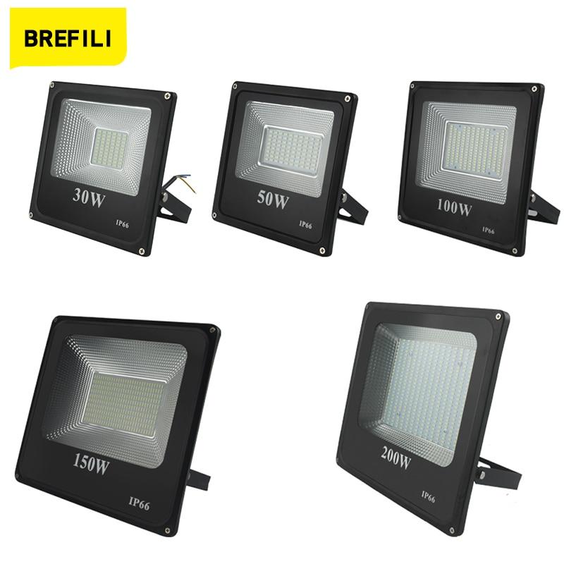 BREFILI llevó la luz de inundación impermeable IP66 proyector W 30W 50W...
