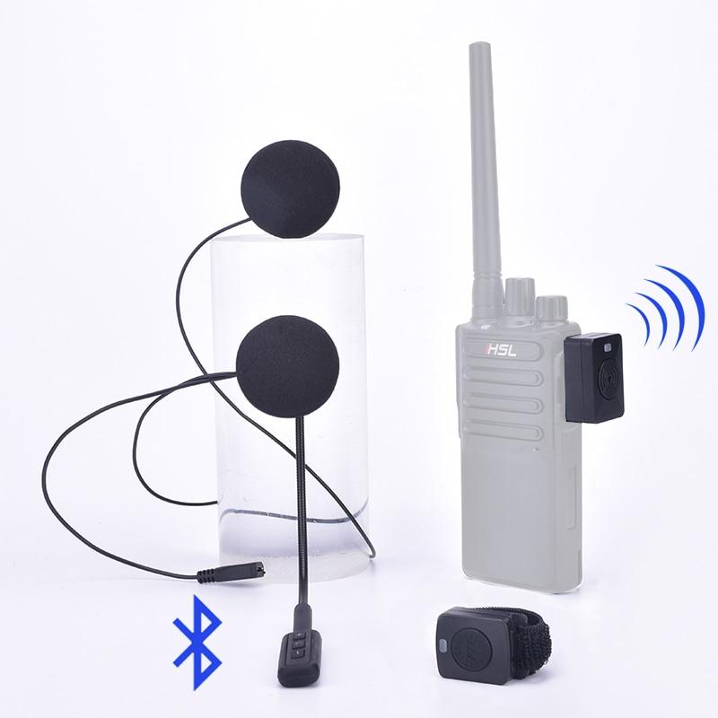 Walkie Talkie Hands-Free Helmet Bluetooth Headset K /M Type Wireless Headphones For Motorcycle Locomotive BT Earpiece Earphone