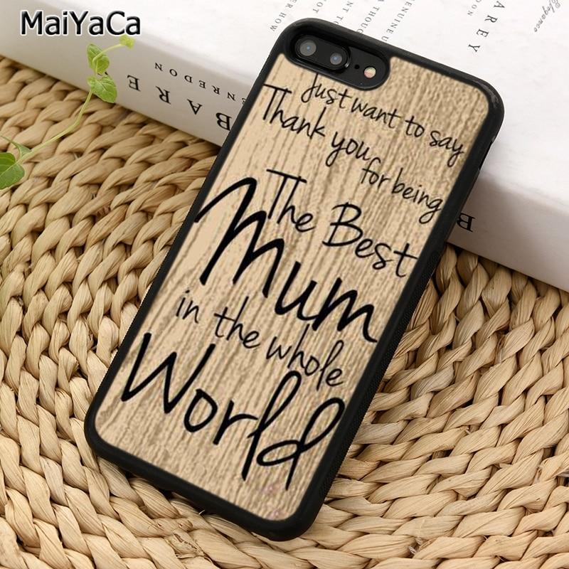 MaiYaCa los mundos mejor mamá madres día teléfono caso para iPhone 5 5 S 6S 7 8 plus 11 Pro X XR XS Max Samsung Galaxy S7 S8 S9 S10