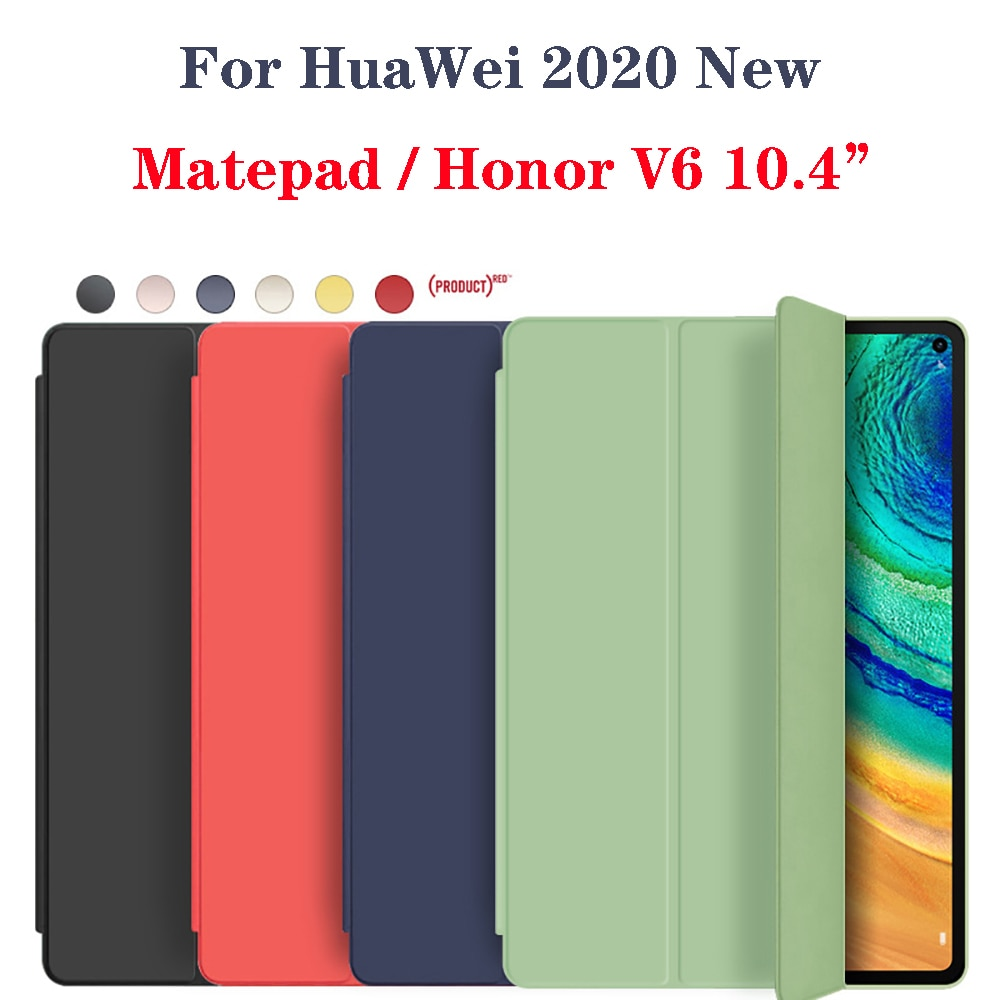 2020 New Case For HuaWei MatePad 10.4 Case Soft Silicone Cover for Honor V6 10.4 inch Holster with S