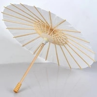 100pcslot handmade wedding umbrella diameter 60 cm plain white color chinese small paper parasol with bamboo handle wholesale