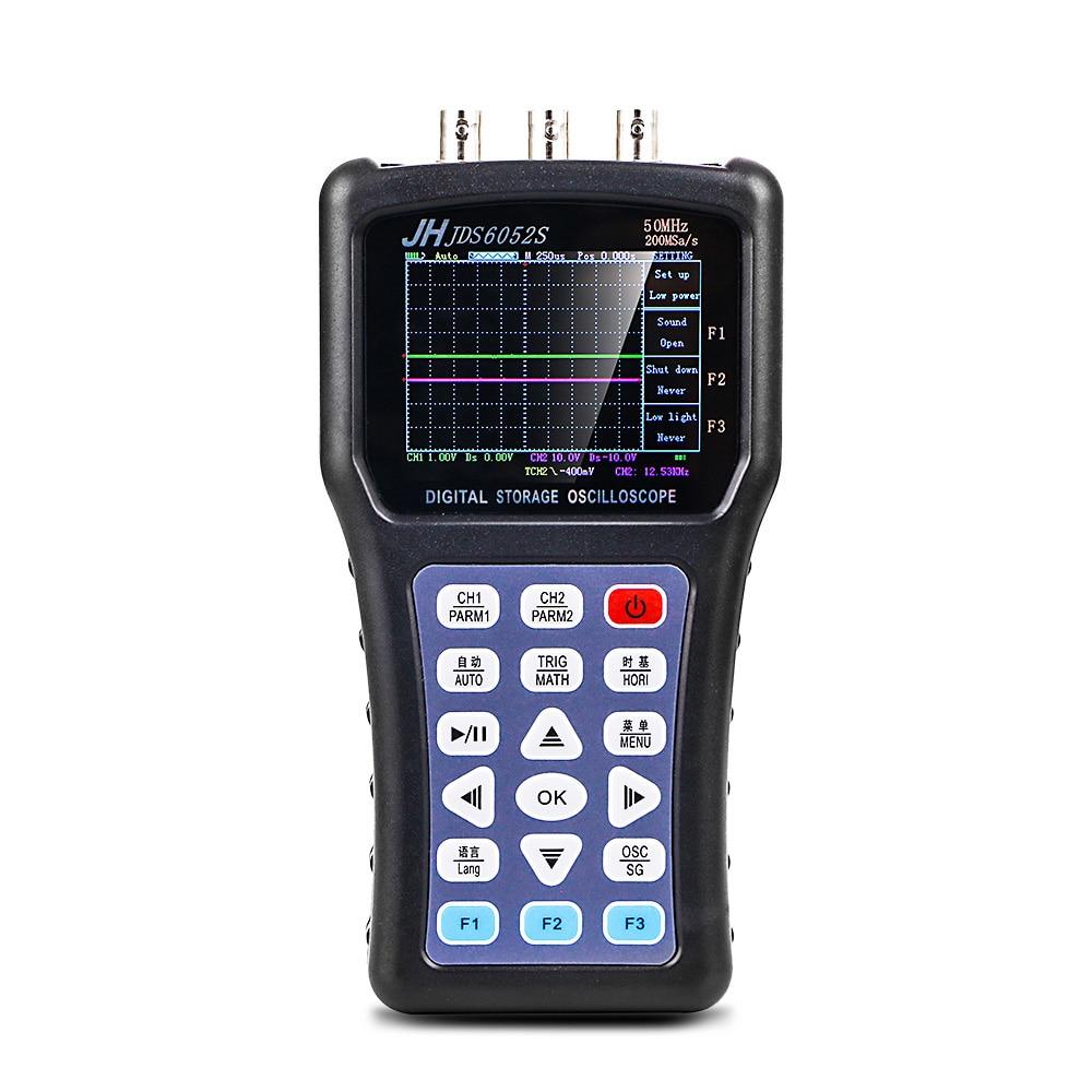 20MHz Portable Handheld Oscilloscope Digital Storage signal Function Generator Oscilloscope AC/DC Input Coupling JDS6052S