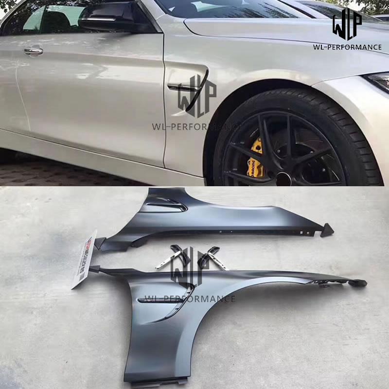 F32 F33 F36, Material de Metal eléctrico, guardabarros laterales, tablero de hoja M4, estilismo para coche para BMW F32 F33 F36 M4 420i 428i 430i 435i 14-15