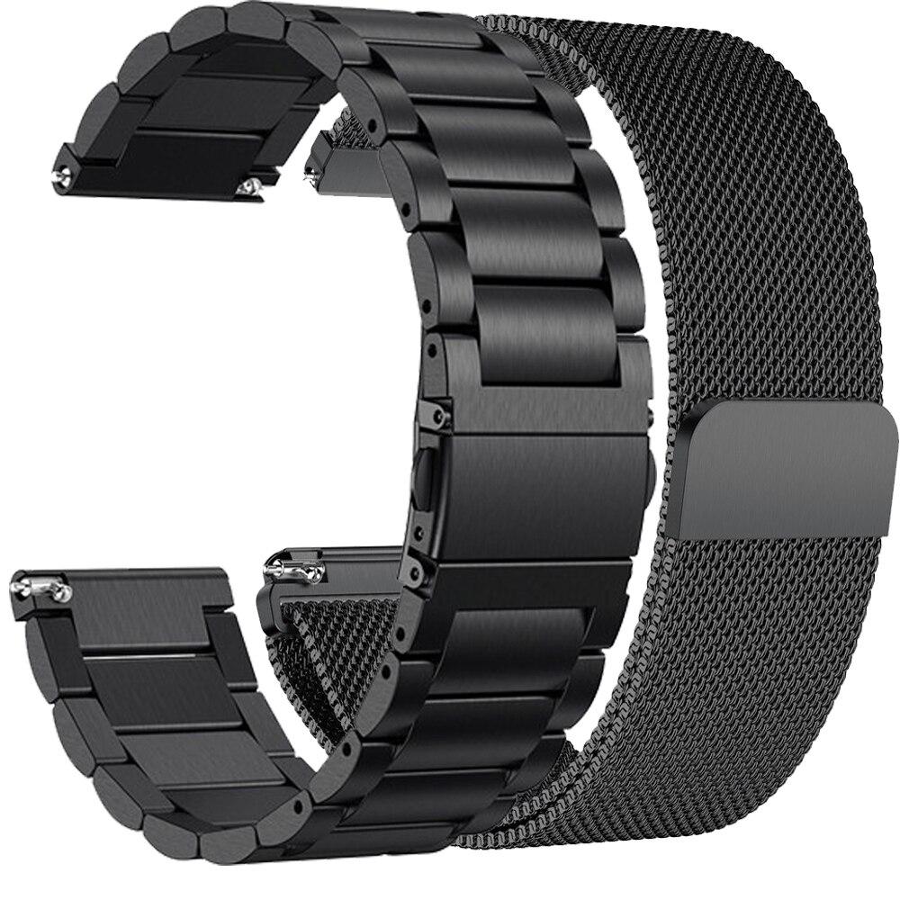 Correa de Metal de repuesto para reloj inteligente Fitbit Versa 2, correa de muñeca de acero inoxidable para Fitbit Versa / Versa lite