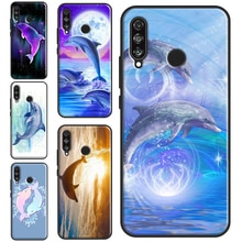 Ocean Dolphin Case For Huawei P30 P40 Lite P20 Pro P Smart 2021 2019 Shell For Mate 20 Lite Back Cov