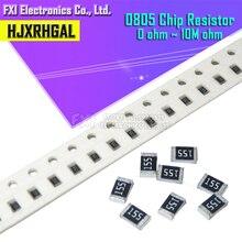 100Pcs 0805 SMD 1/4W 0R ~ 10M resistore del circuito integrato 0 10R 100R 220R 330R 470R 1K 4.7K 10K 47K 100K 0 10 100 330 470 ohm