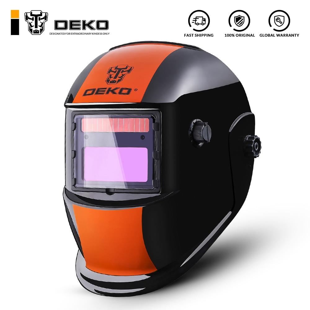 DEKO Orange S Solar Auto Darkening MIG MMA Electric Welding Mask/Helmet/Welding Lens for Welding Machine or Plasma Cutter