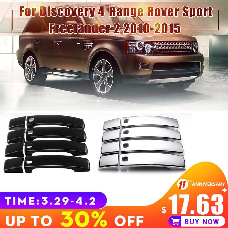 8pcs/set Chrome Door Handles Decorative Cover Trim for Land Rover Dciscovery 4 Range Rover Sport Freelander Exterior Accessories