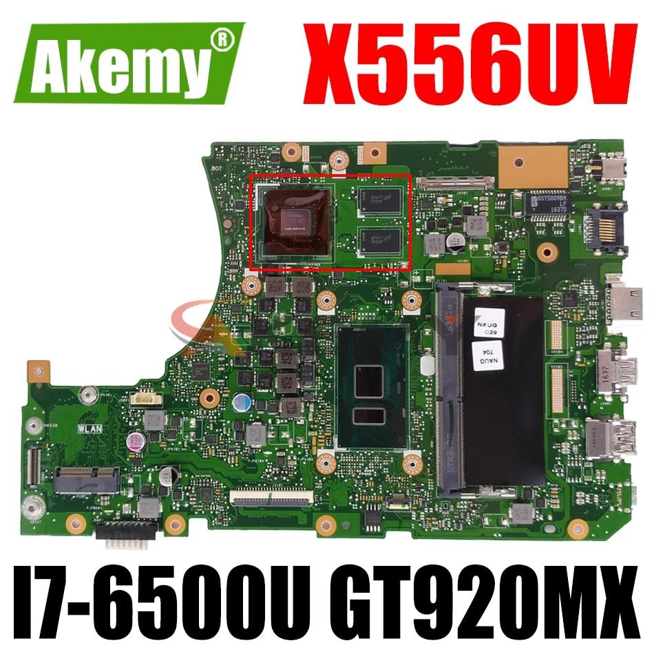 AKEMY X556UV اللوحة لابتوب ASUS X556UV X556UJ X556UB X556UR X556UF X556UQ اللوحة الأصلية 8G-RAM I7-6500U GT920MX
