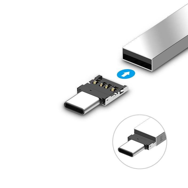 FFFAS USB 3,1 tipo C OTG Cable adaptador pequeño teléfono móvil juego tipo C OTG Convertidor para Huawei P10 Xiaomi 6 Macbook Samsung