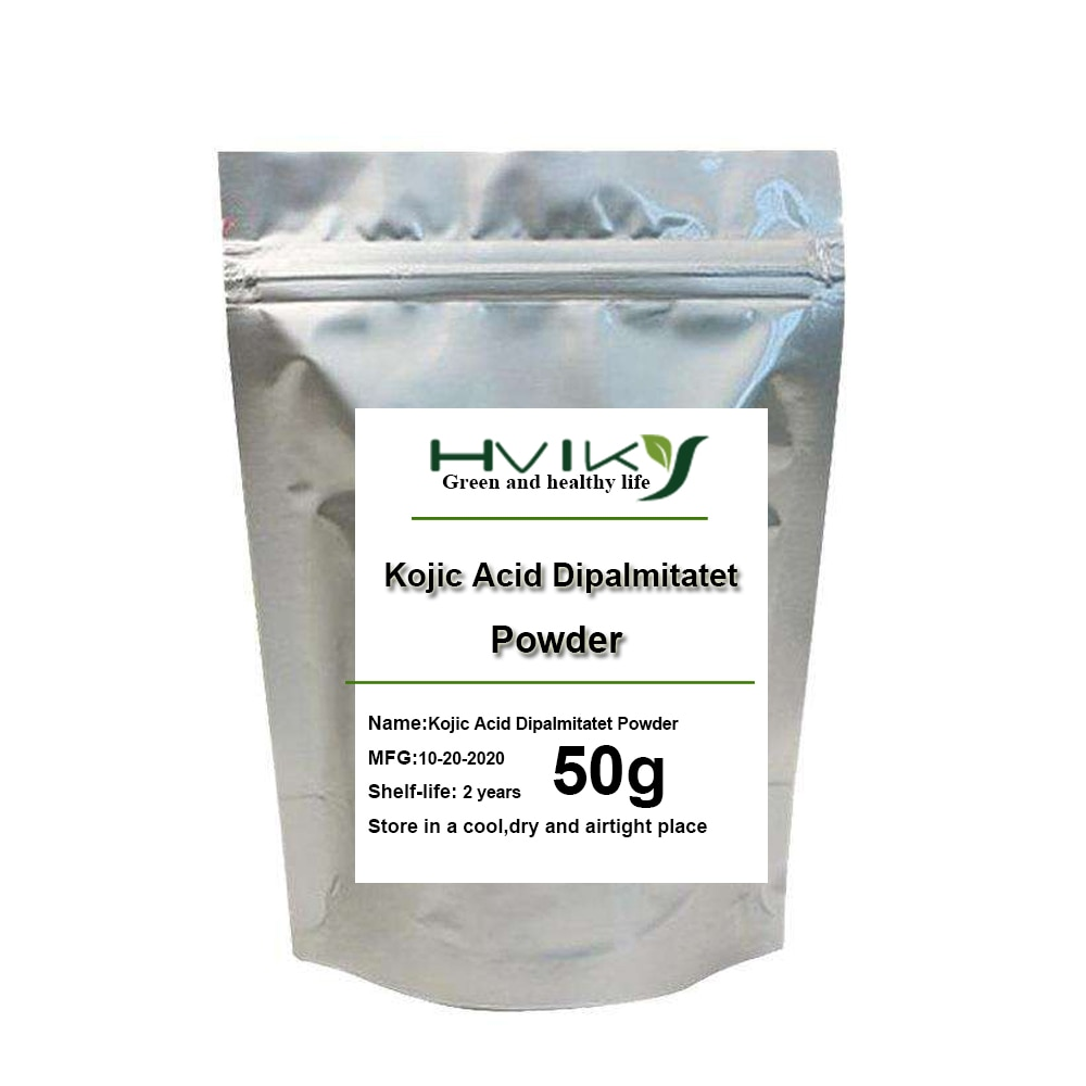 Kojic Acid Dipalmitate extract Powder Whitening skin, sunscreen and freckle removing kojic acid and its derivatives