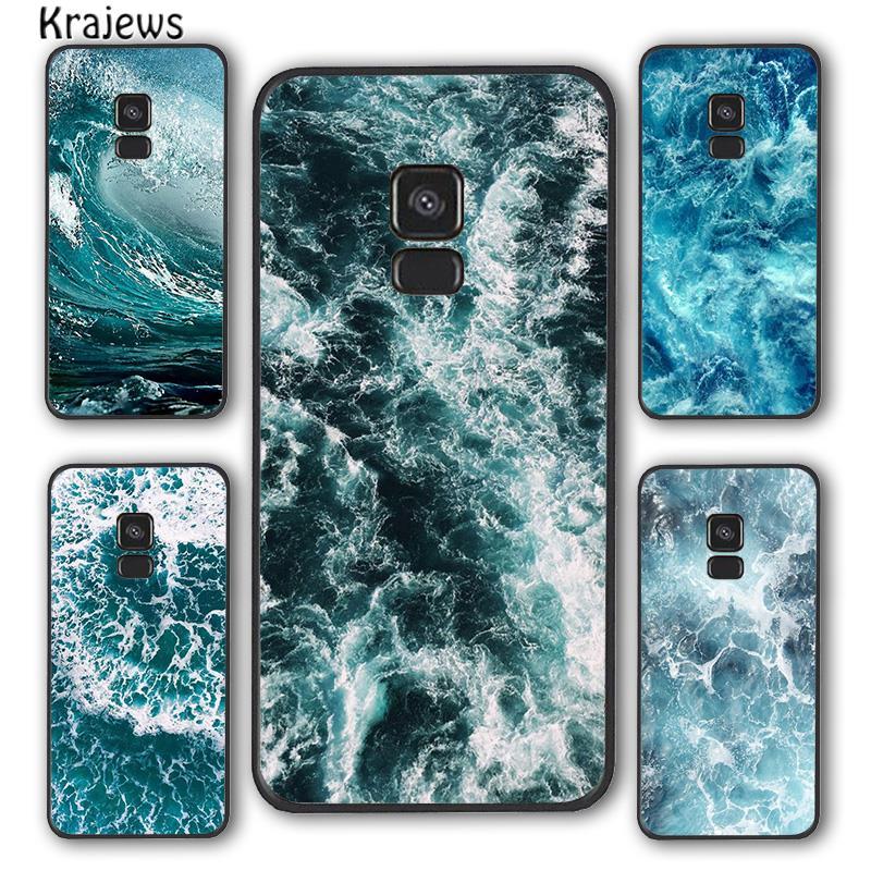 Krajews Blue Sea Ocean Waves Phone Case Cover For Samsung Galaxy S5 S6 S7 edge S8 S9 S10 E lite S20