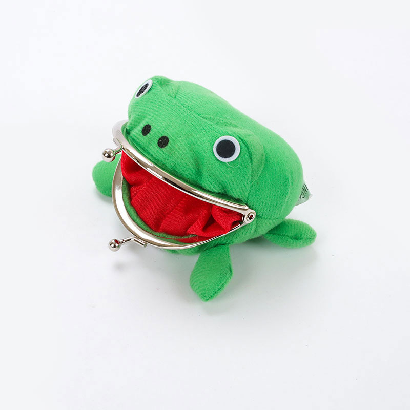 1PCS Hot Selling Frog Wallet Anime Cartoon Coin Purse Manga Flannel Cute Holder