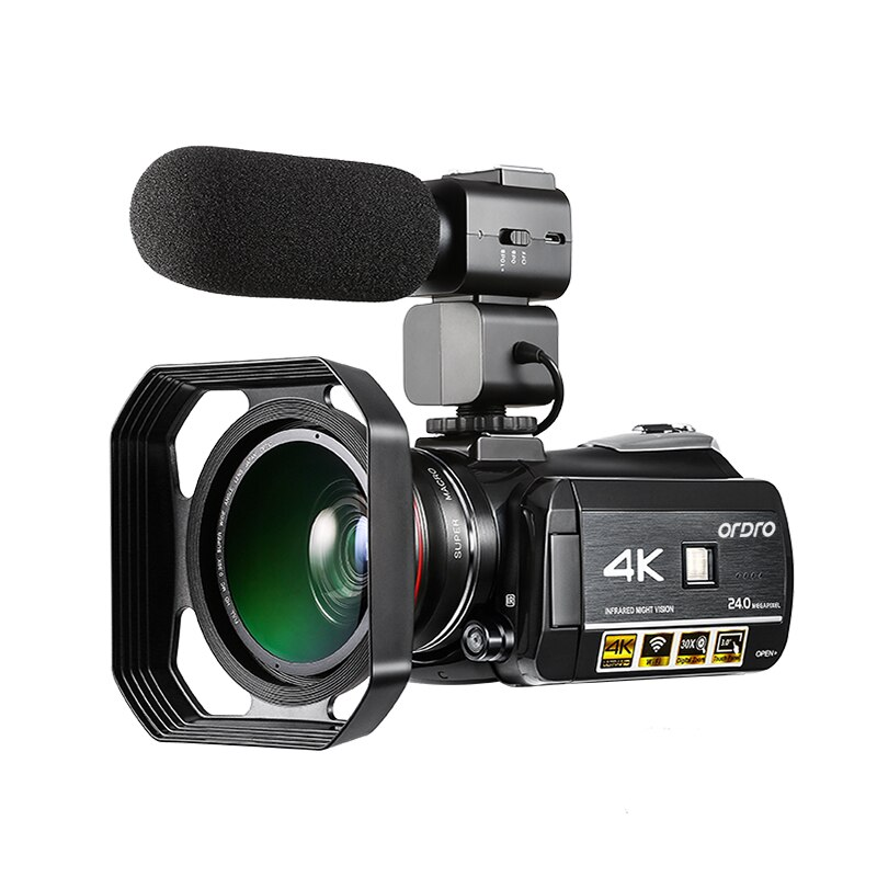 Ordro-videocámara Digital 4k con WIFI, pantalla táctil De 3,0 pulgadas, videocámara De...