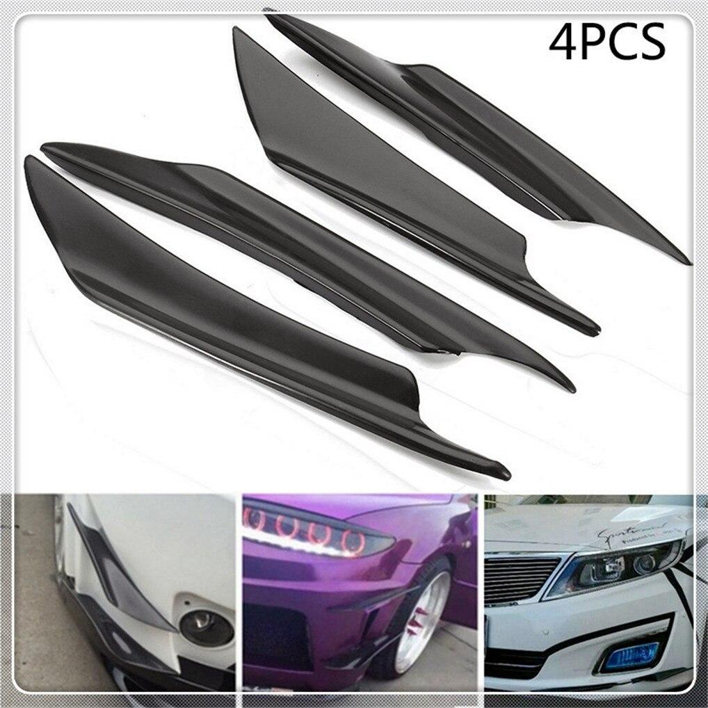 car Front Bumper Lip Splitter Fin Air Canard Wing Spoiler ForPeugeot 206 307 406 407 207 208 308 508 2008 3008 4008