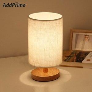 Скандинавская Светодиодная настольная лампа из массива дерева, прикроватный светильник для спальни с зарядкой от USB и плавным затемнением, ...