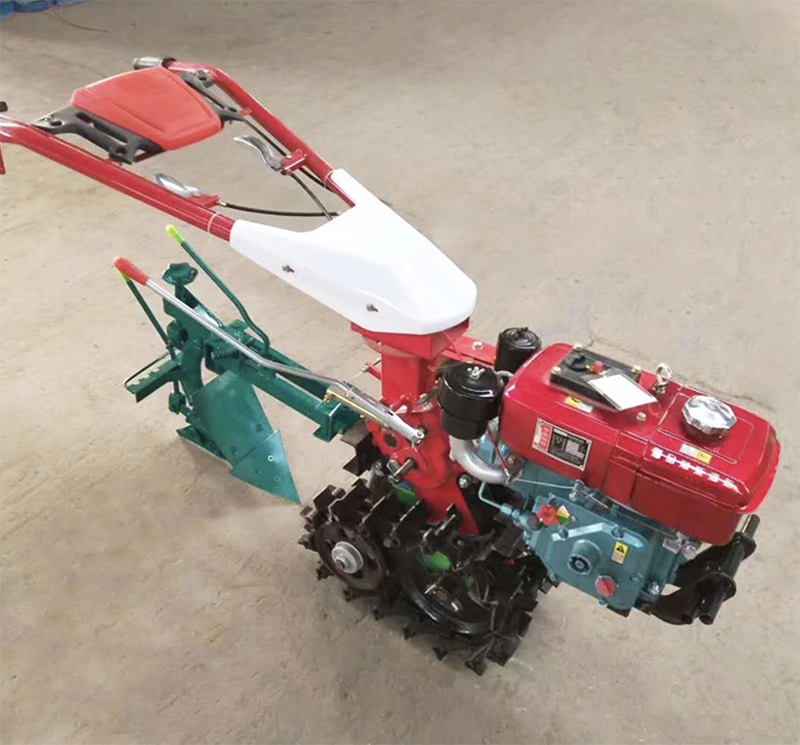 Crawler tractor type small micro tiller all-in-one agricultural hydraulic flip plow plough enlarge
