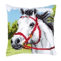latch hook cushion kit gift diy needlework crocheting throw pillow unfinished yarn cross stitch embroidery pillowcase horse