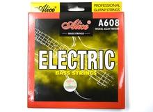 Alice A608-M/L De Cordes Pour Basse Électrique 4 Cordes Hexagonale Corel et Alliage de Nickel Plaie 1st-4th Cordes
