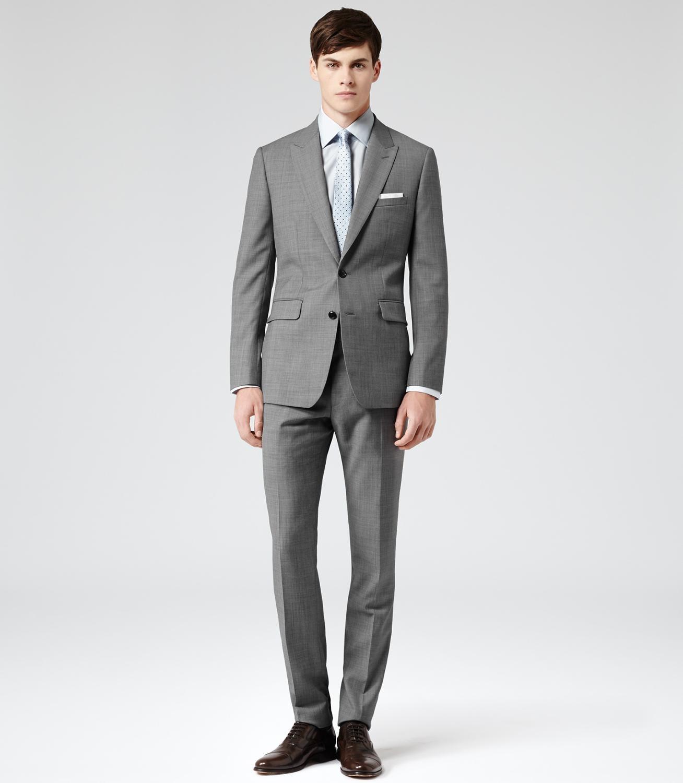 بدلة عريس مخصصة للرجال لون رمادي فاتح مصنوعة من الصوف 2021 (جاكيت + سروال)