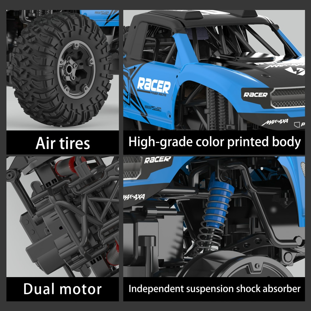 JJRC Q90 Big RC Car 1:10 Scale 4WD Radio Controlled Truck High Speed 25km/h Racing Cars Drift Off Road Waterproof Buggy Toy Boys enlarge