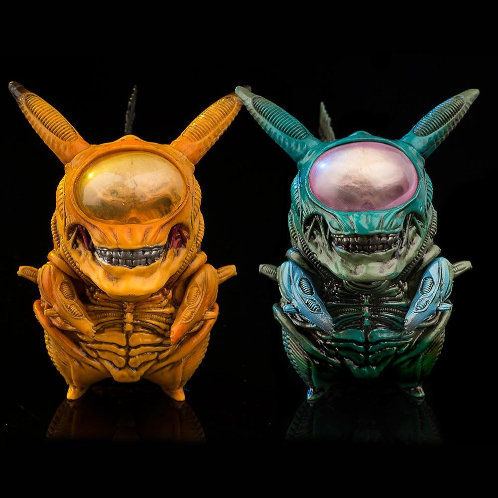 Figura de Pikachu de Alien, 8,5 cm, mezcla de xenomorfo, Alien VS...