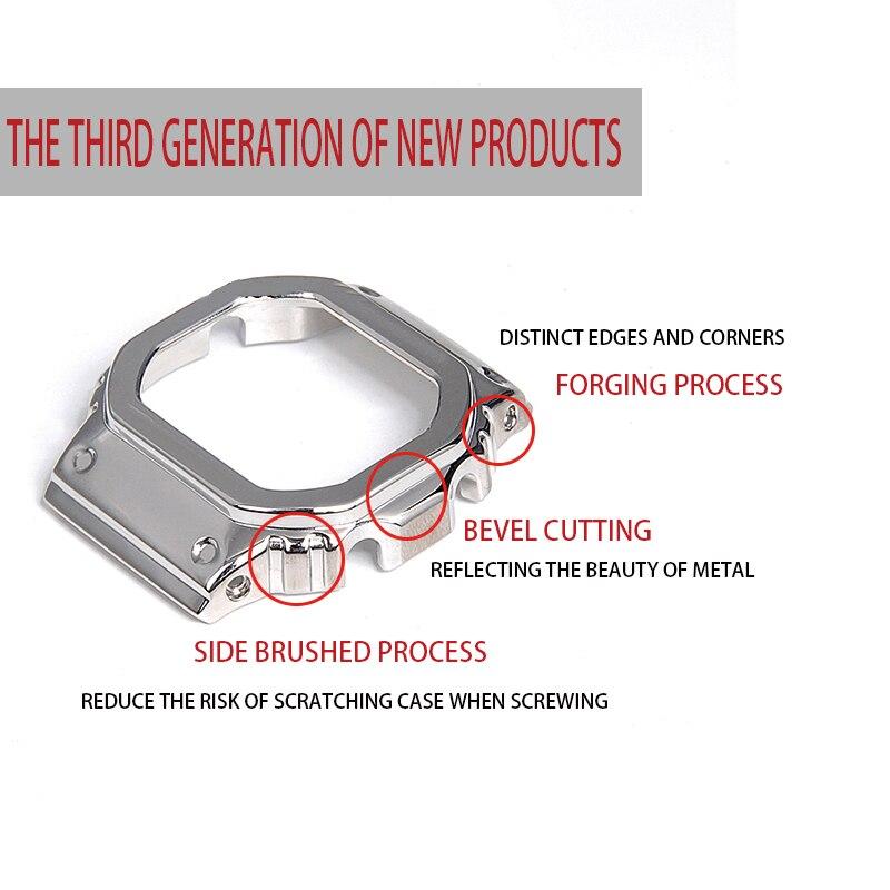 316L stainless steel watchband bezel/case DW5600 GW5000 GW-M5610 metal strap steel belt tools for men/women gift enlarge