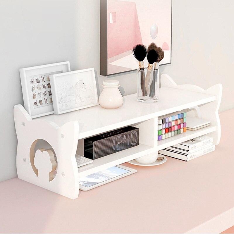 Подставка для монитора в виде милой кошачьей лапы, настольная стойка для хранения, деревянный компьютерный подставка, настольный органайзе...