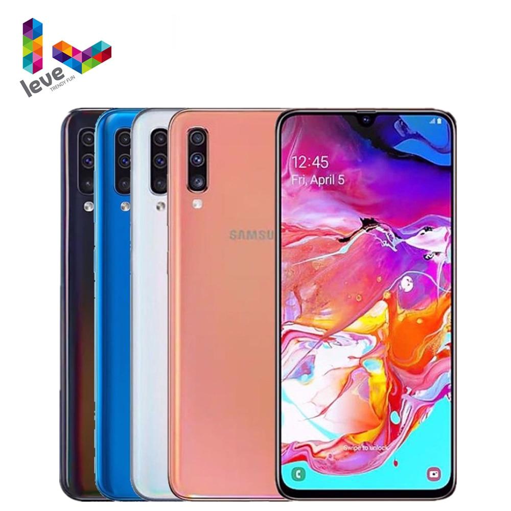 Перейти на Алиэкспресс и купить Samsung Galaxy A50 A505F A505FN 2SIM разблокирован мобильный телефон 6,4 дюйм4 Гб оперативная память 128 ГБ Встроенная память Octa Core 3 камер 25MP Android смартфон