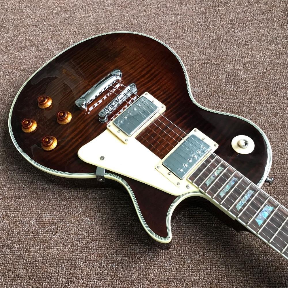 custom shop,standard 1959 R9 Tiger Flame standard custom Electric guitar,handwork gitaar,rosewood fingerboard guitarra enlarge
