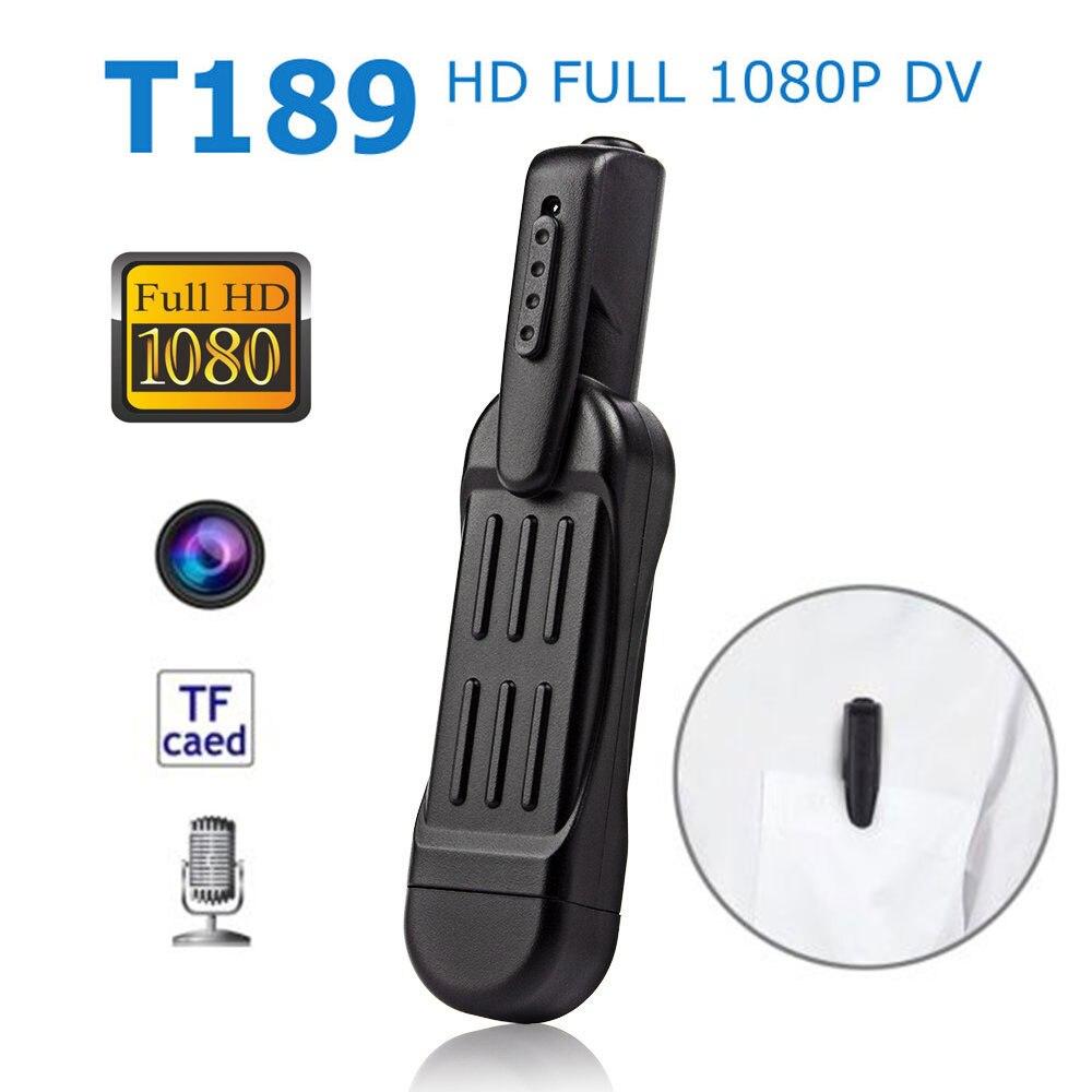 T189 HD 1080P Mini Pen Camera Micro DV DVR Camcorder Vide Voice recorder Motion Detection micro Sport Pocket Cop Police Cam SQ11