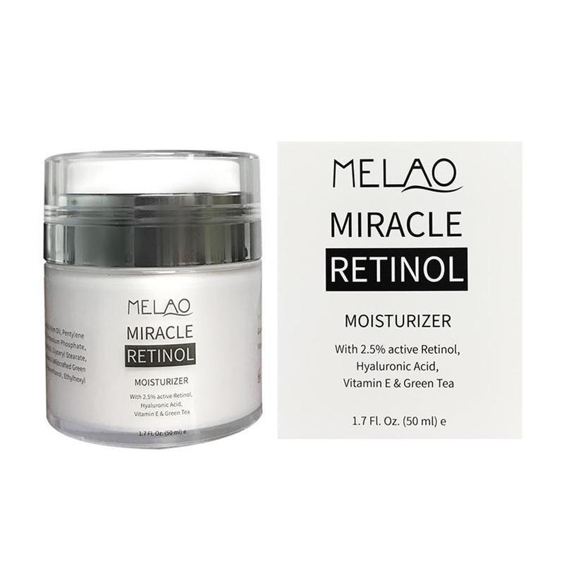 MELAO 50g Dia Noite 2.5% Retinol Creme Reduz Rugas E Linhas Finas Creme Para o Rosto de Ácido Hialurônico Hidratante Retinol Creme