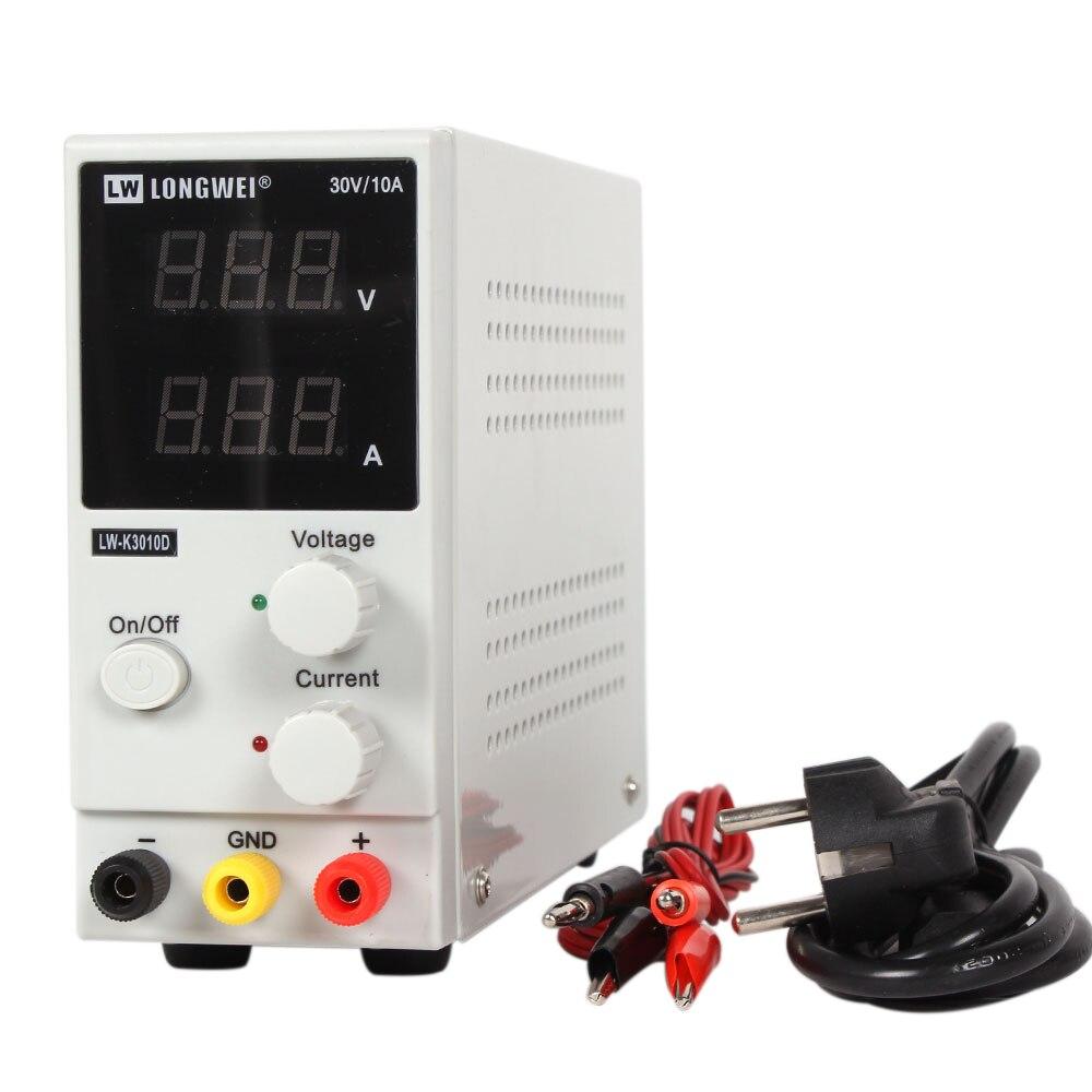 Novo 30 v 10a display led regulador de comutação ajustável dc fonte de alimentação LW-K3010D reparação portátil retrabalho 110v - 220v