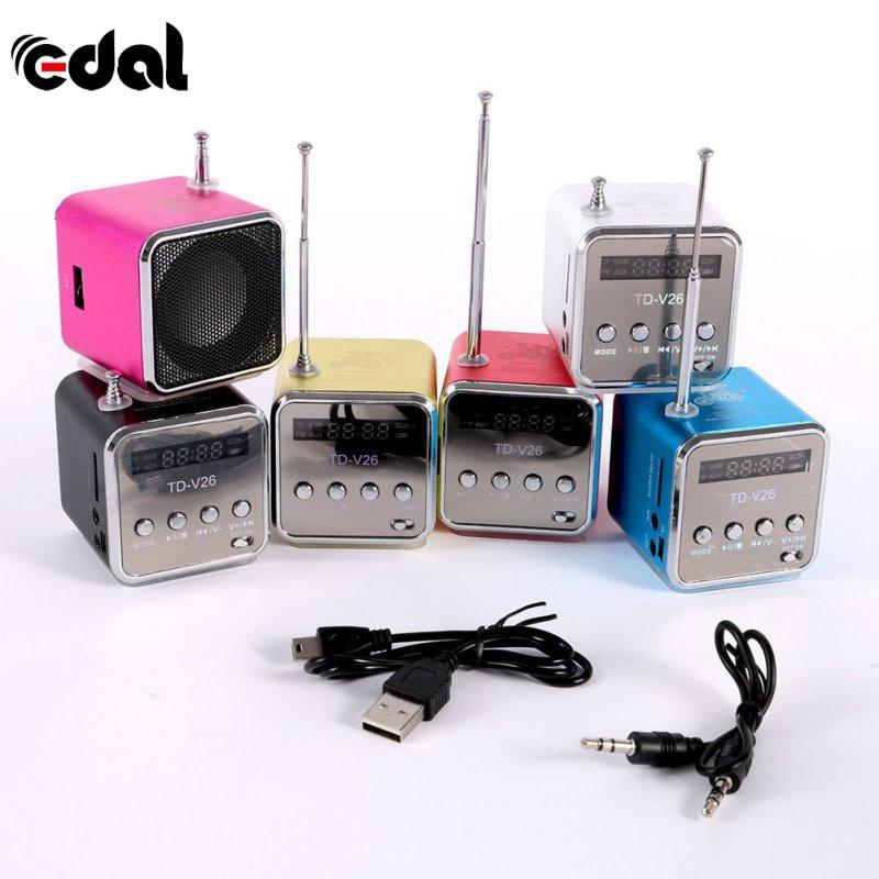 18 EDAL portátil Micro USB Mini estéreo altavoz de música MP3/MP4 Radio FM 6 colores nuevo