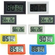 Mini numérique LCD pratique capteur de température humidité mètre intérieur hygromètre Portable jauge capteur réfrigérateur thermomètre