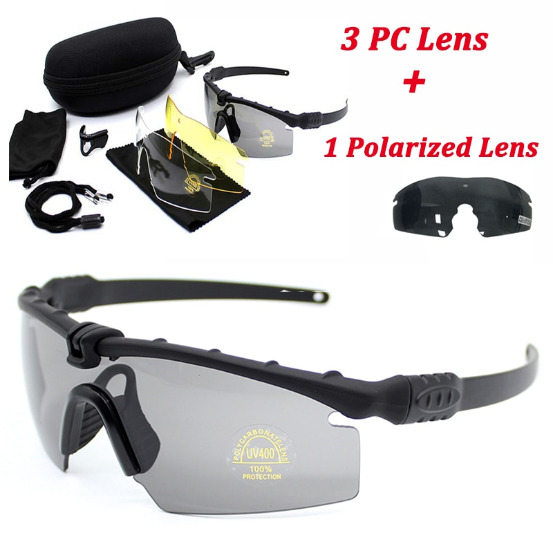 Sport Polarized Tactical Glasses Military Goggles Army Sunglasses With 4 Lens Men Shooting Safety Gl
