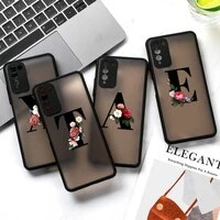 floral alphabet cases for huawei y6p y8p p smart s honor 9a 30 lite 30s p30 p40 lite p50 y6 y9 2019 nova 7 se 5i pro back covers