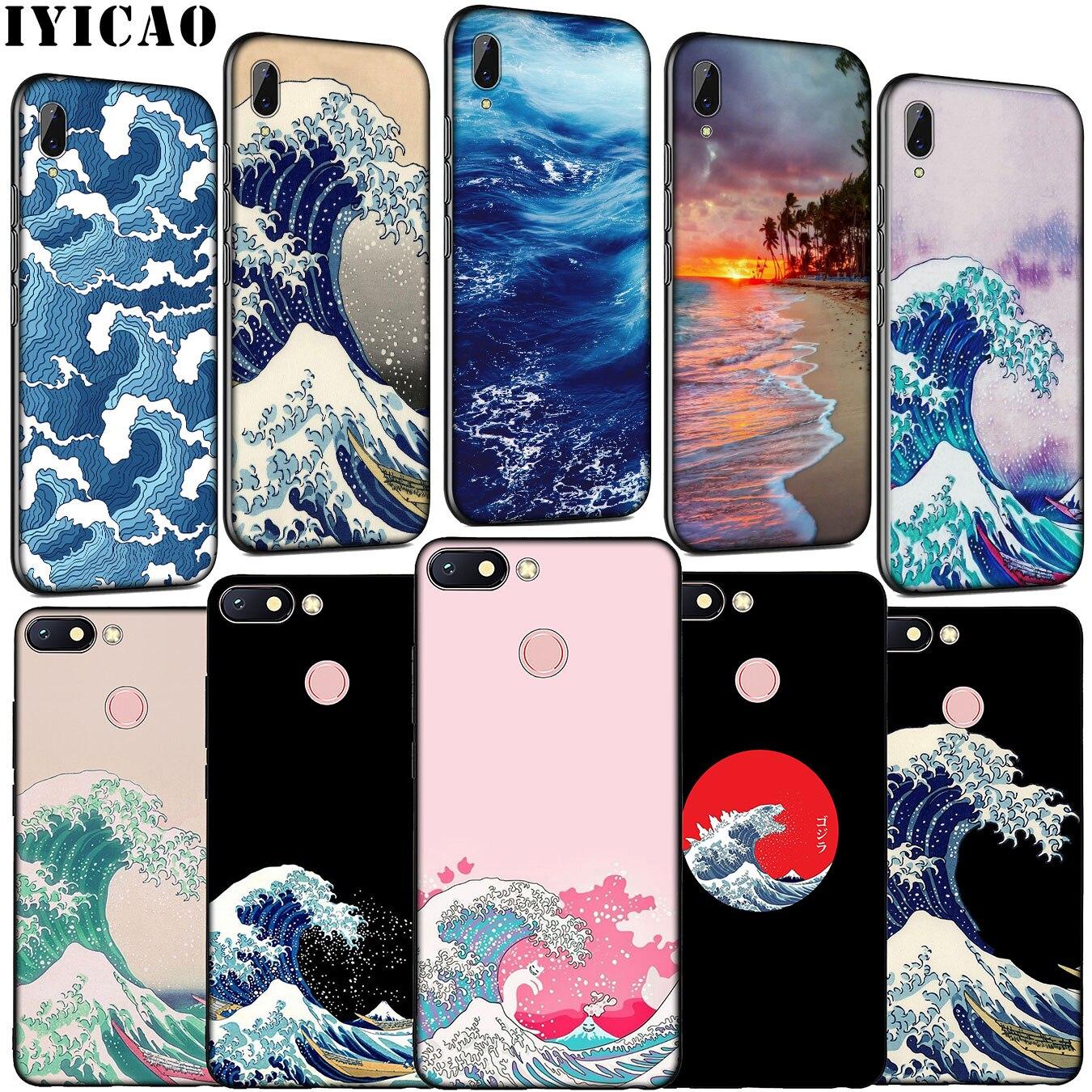 La Gran Ola de Kanagawa de silicona suave funda de teléfono para Xiaomi Redmi Note 8 8T 8A 7 7A 6 6A 5 5A K30 K20 Pro ir S2 cubierta