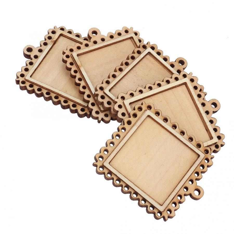 Quadros para imagens de estrada de carbono 5 pçs retângulo de madeira configuração emboss base em branco pequena moldura de madeira porta-chaves bandejas