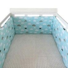 Étoiles Design nordique   Lit de bébé épais, pare-chocs une pièce autour du coussin, protecteur de lit bébé, oreillers pour nouveau-nés, décor de chambre, 180cm x 30cm