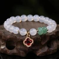original design brazilian agate bracelet feminine lucky four leaf clover pendanthigh end jewelry for women