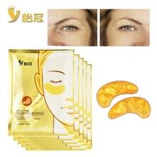 10pcs/5pair  Eye Care Treatment & Mask Gold Crystal Collagen Skin Care Eye Patches Dark Circle Bag Under Eye Mask Eye Patch