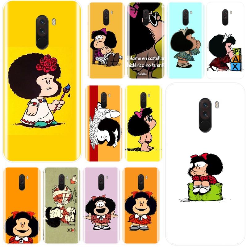 Funda Mafalda de silicona suave TPU funda para Redmi 4 teléfono 4A 4X 5A 5 PLUS 6 7 NOTE 4 5 6 7 4X 5A 5 6 pro