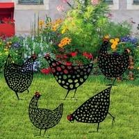 1pcs hen farm decoration art gardening decoration chicken farm art outdoor garden backyard lawn benefit gift