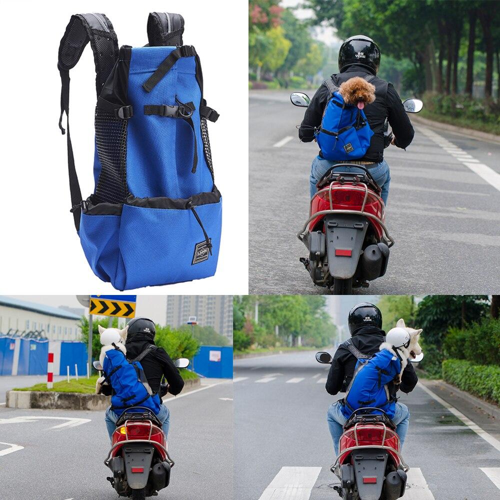 Unisex de la motocicleta morrales de mascotas adecuado para gatos, perros, mascotas de viaje al aire libre de Motor de bicicleta bolsas de tamaño ajustable
