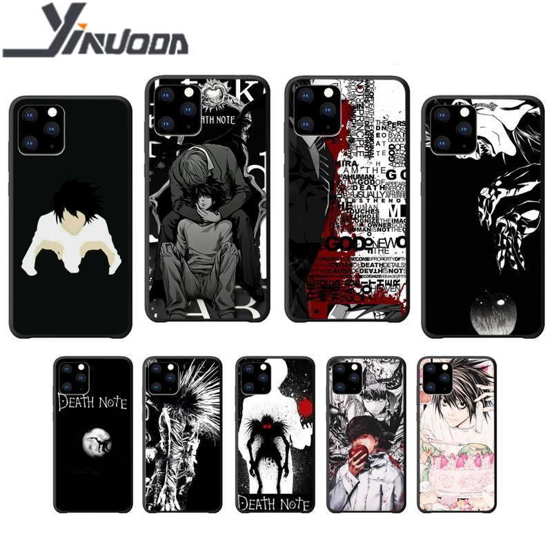 Yinuoda nota de la muerte de Kira y Ryu suave negro teléfono caso funda para iphone se 2020 6s 6 7 8 plus x xs x max xr 11 12 pro max